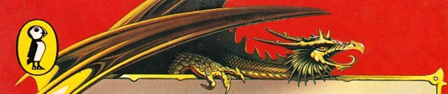 Dragon detail from the cover of a Puffin Books Fighting Fantasy book