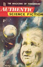 Authentic Science Fiction. Issue No.72, August 1956